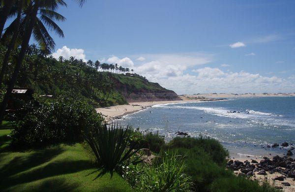 Küstenabschnitt Tibau in Brasilien