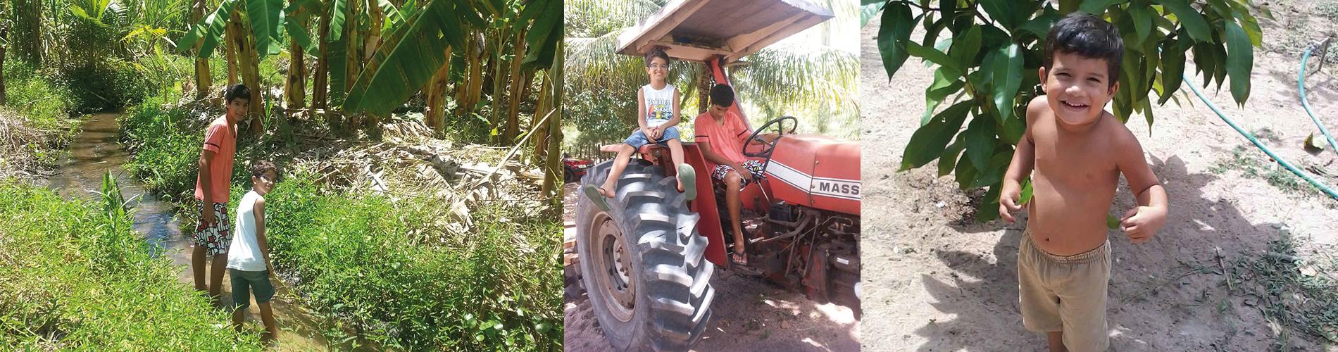 Strassenkinder auf der Nós na Vida Farm